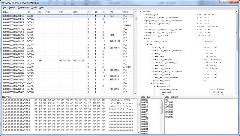Windows 7 MPEG TS Utils 2.0 full