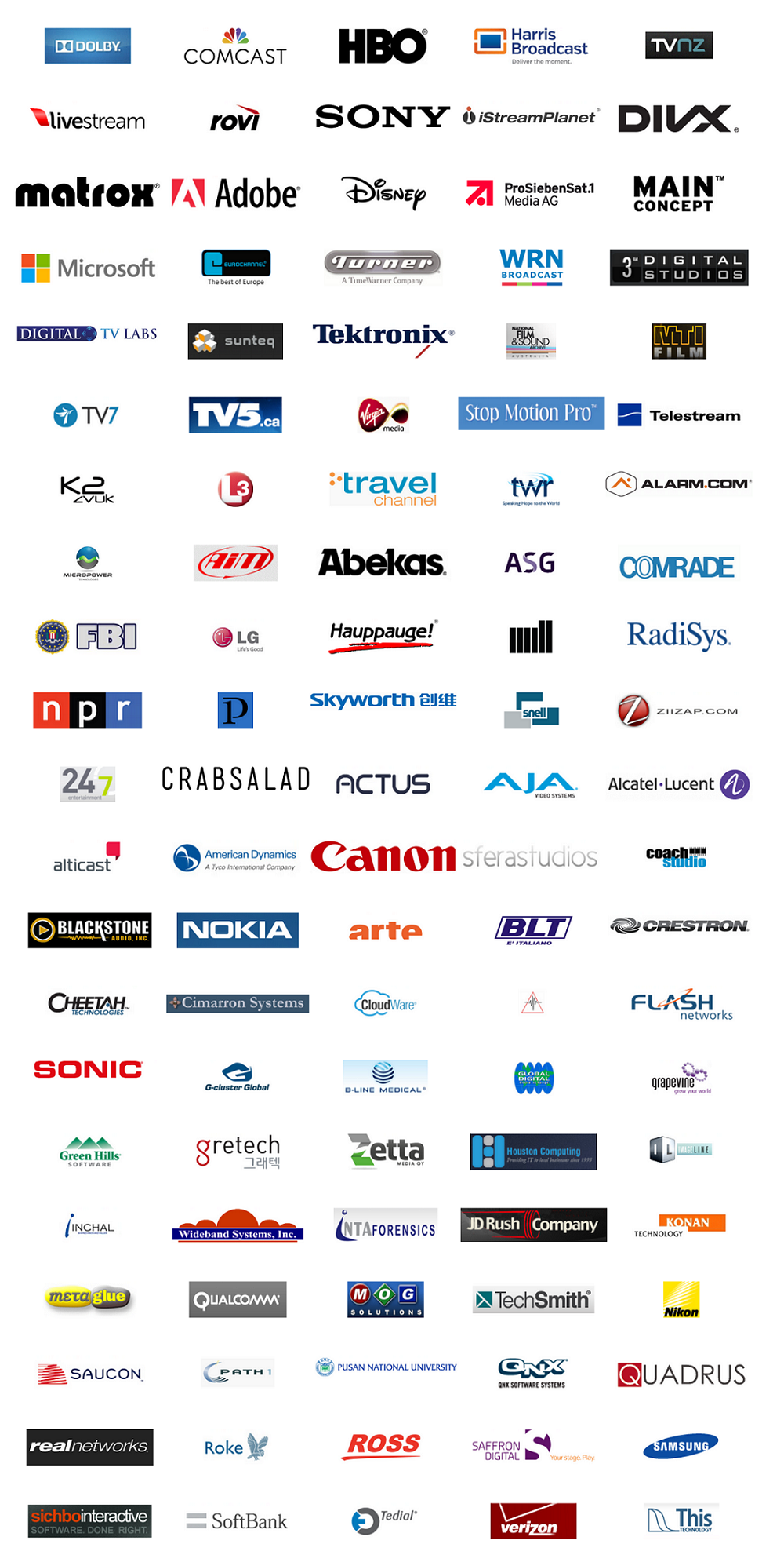 We are proud of our customers. Microsoft, HBO, Disney, Adobe, Dolby, Sony, Comcast, Turner, FBI and many more great companies have trusted our solutions.