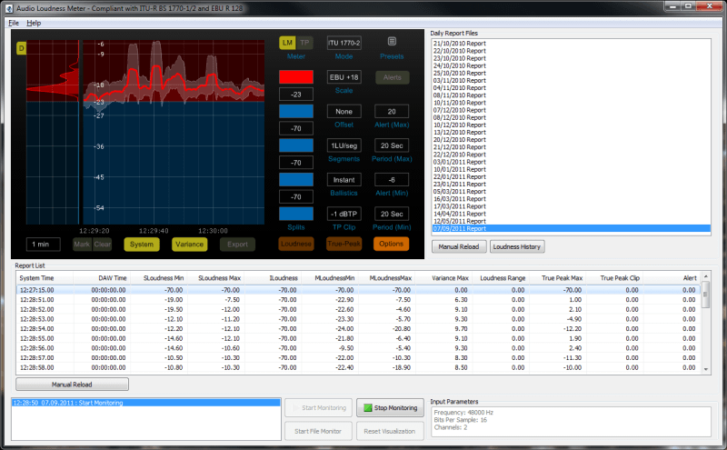 Audio Loudness Meter Main Preview