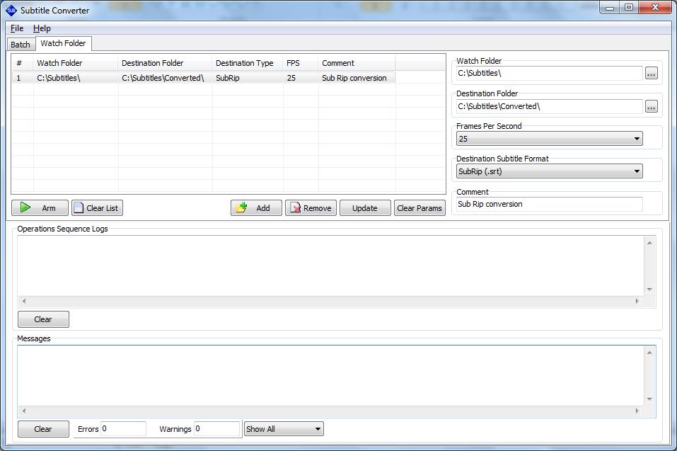 Subtitle Converter Watch Folder
